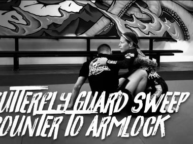 BUTTERFLY GUARD SWEEP COUNTER TO ARMLOCK